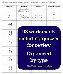 fraction u0026 decimal worksheet pack classroom caboodle