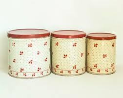 vintage canister set etsy