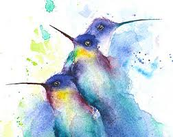 ORIGINAL BIRD PAINTING bird art nature art watercolor
