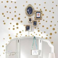 wall decal metallic dottie gold pbteen