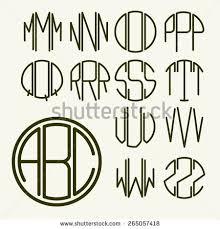 create monogram initials monogram initials stock vectors vector clip
