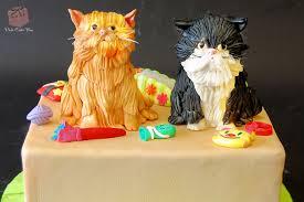 Pair of Cats Birthday Cake  Celebration Cakes