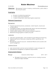 Manufacturing Experience Resume Calibration Manager Cover Letter