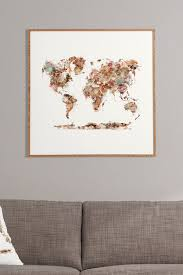 deny designs brian buckley world map watercolor framed wall art