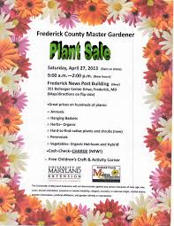 Umd Campus Map Ume Frederick County Master Gardeners U0027 Plant Sale University Of