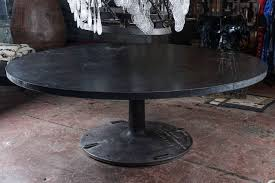 home design attractive industrial round dining table vintage