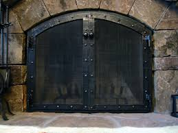 amazing design custom fireplace screens doors screens set