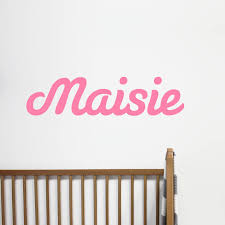 personalised name wall sticker by little chip notonthehighstreet com pink large