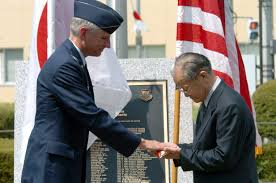 Japan War Flag Base Returns World War Ii Flag To Japanese Family U003e U S Air Force
