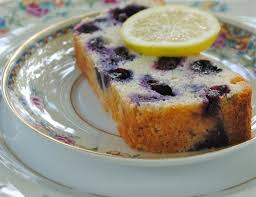 banana bread and lemon blueberry ricotta pound cake and sour cream
