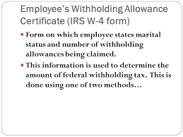 Irs Tax Withholding Tables Income Tax Withholding Section 6 4 Employee U0027s Withholding
