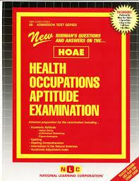 health occupations aptitude examination hoae jack rudman