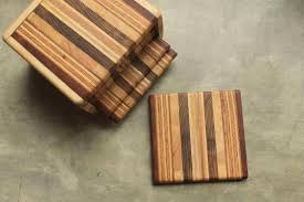 new products recycled wood coasters and chess sets ironwood