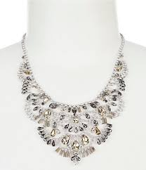chunky pearl crystal necklace images Women 39 s statement necklaces dillards jpg