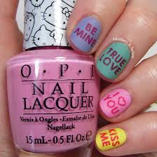 valentine u0027s day nail art conversation hearts adventures in acetone