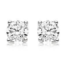 white gold diamond stud earrings 18ct white gold diamond stud earrings 0005229 beaverbrooks the