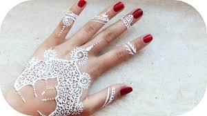 weißes henna tutorial ganze hand sanny kaur youtube