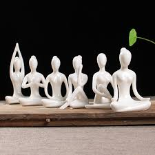 ceramic white figurines ornaments creative abstract