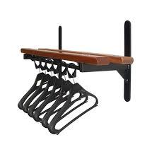 wall mounted coat rack wall mounted garment rail with shelf