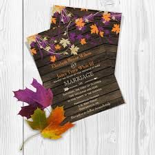 fall wedding invitations printable wedding invitation template fall wedding invitations