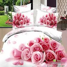Roses Duvet Cover Pink Rose 3d Printing Bedding Set Bedlinen Comforter Quilt Duvet