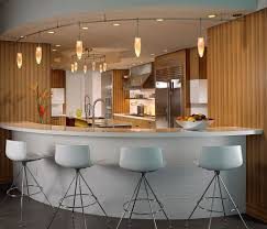 kitchen bar design ideas with attractive track lighting for decor