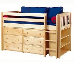 Bunk Beds With Dresser Maxtrix Low Loft Bed W Dresser Bookcase Low Loft Beds