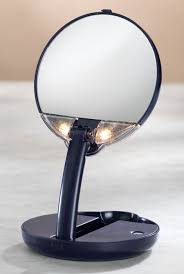 Lighted Travel Makeup Mirror 15x Magnifying Mirror As We Change