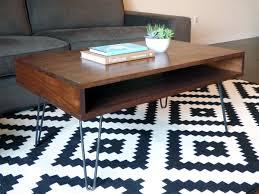 Modern Furniture End Tables by Diy Mid Century Modern Coffee Table Midcenturymodern Hairpinlegs