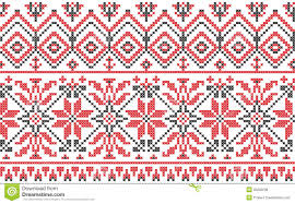 ukrainian ornament cross stitch on a white royalty free stock