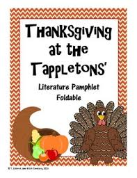thanksgiving at the tappletons literature phlet foldable