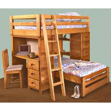 Trendwood Bunkhouse TwinTwin Bronco Loft Bed With Builtin Desk - Trendwood bunk beds