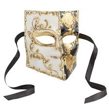 buy masquerade masks black gold bauta italian masquerade mask pier 1 imports