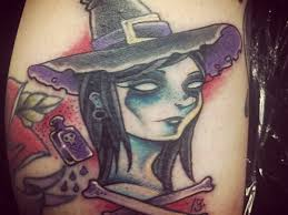 10 wonderful witch tattoos