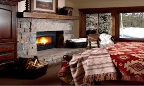 master bedroom with sitting room floor plans fireplace in stone