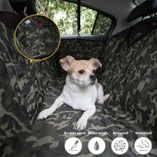camouflage dog car seat cover mat pet travel universal waterproof