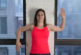 womans haircut back touches top of shoulders front is longer shoulder stretches 16 simple moves to fix tight shoulders greatist