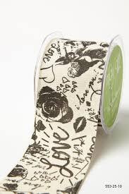buy ribbon online 2 5 inch graffiti ribbon ivory black graffiti buy