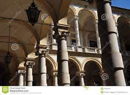 italian neoclassical architecture arches stock photo image