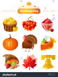 vector icon set autumn thanksgiving food stock vector 456213907