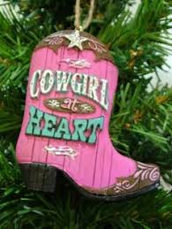 ebayimg cowboy boots hat western tree ornament