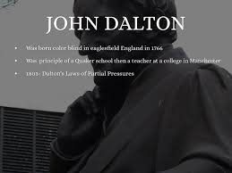 Was John Dalton Color Blind Atomic Theory And Structure The Scientists That