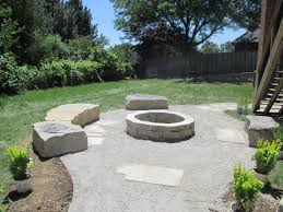 Large Firepits Large Limestone Seating Around Limestone Pit With Flagstone