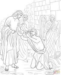 jesus heals blind bartimaeus coloring page cecilymae