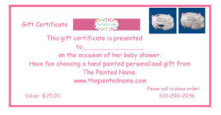 personalized gift for baby personalized gifts baby gifts 25 gift certificate