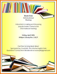 club flyer template book club flyer png scope of work template