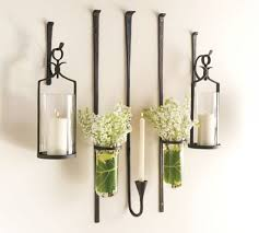 Wall Sconces For Flowers Set Of Glass Pocket Wall Sconce Vases For Flowers Global Glass