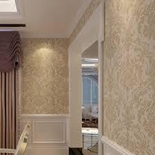 tapisserie bureau hanmero papier peint style baroque classique intisse flocage pour