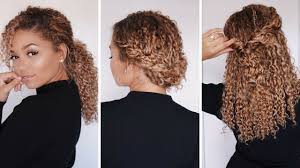 Easy On The Go Hairstyles by 3 Super Easy Hairstyles For 3b 3c Curly Hair Bella Kurls