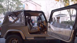 1991 jeep islander 1989 jeep wrangler yj soft top up hd youtube